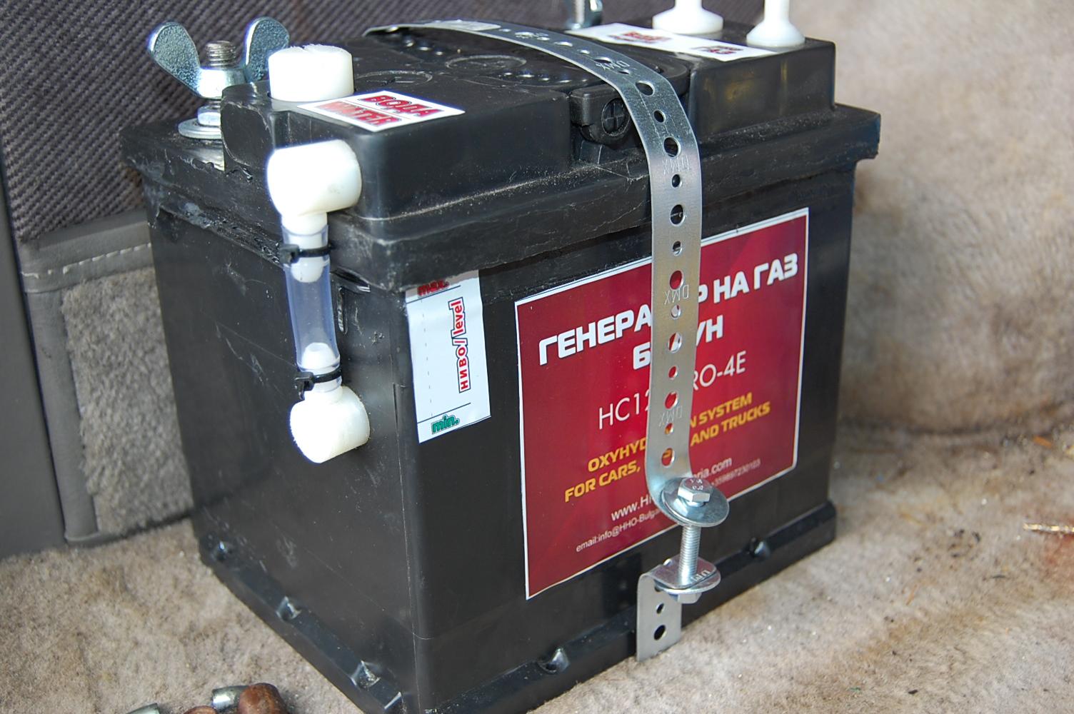 монтаж HHO генератор