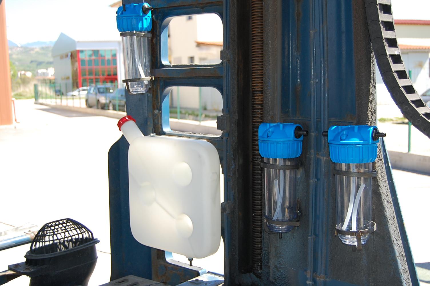 бъблери и резервоар за вода