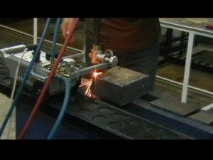 рязане на стомана с HHO газ